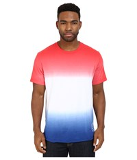 Converse Tri Color Gradient Baseball Hem Tee Red White Blue Men's T Shirt Multi