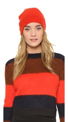 Rag And Bone Alexis Beanie Hat Fiery Red