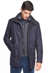 Men's Paul And Shark 'Typhoon' Waterproof Reversible Jacket Navy