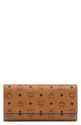 Mcm Women's Visetos Coated Canvas Continental Wallet