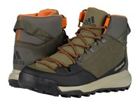Adidas Cw Winterpitch Mid Cp Leather Utility Grey Black Olive Cargo Men's Hiking Boots