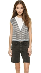 1 By O'2nd Frozen Print Crop Top Mix