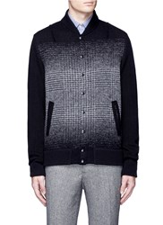 Altea Houndstooth Effect Bomber Cardigan Black