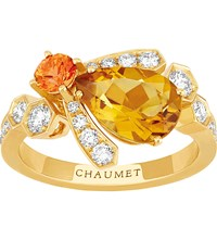 Chaumet Bee My Love 18Ct Yellow Gold Sapphire And Citrine Ring