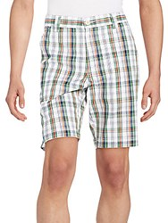 Robert Graham Barbuda Plaid Shorts Blue