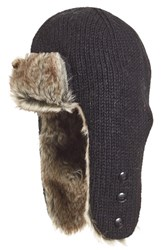 Nirvanna Designs Women's Earflap Hat With Faux Fur Trim