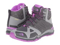 The North Face Ultra Fastpack Ii Mid Gtx Zinc Grey Sweet Violet Women's Hiking Boots Gray