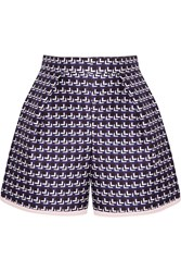 Mother Of Pearl Addison Printed Cotton And Silk Blend Shorts Blue