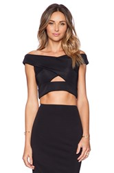 Shakuhachi X Front Crop Top Black