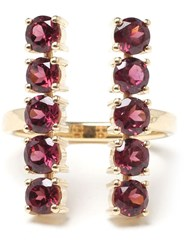 Ileana Makri 18Kt Gold And Rodolite 'Deco Column' Ring Multicolour