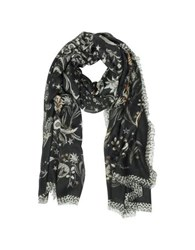 Roberto Cavalli Coffe Brown Floral Printed Modal Shawl