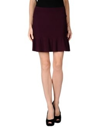 French Connection Mini Skirts Maroon