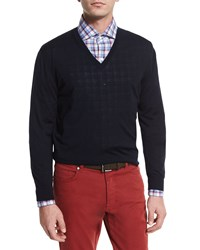 Ermenegildo Zegna High Performance Wool Sweater Navy Size 52