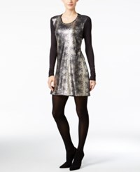 Calvin Klein Jeans Sequined Bodycon Dress Black