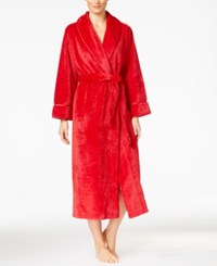 Charter Club Super Soft Textured Long Robe Only At Macy's Candy Red