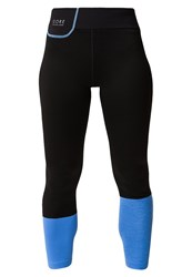 Gore Running Wear Sunlight Lady Tights Black Marine Blue