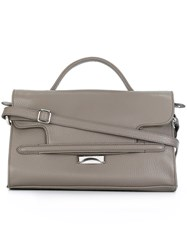 Zanellato Medium Square Barrel Tote Grey