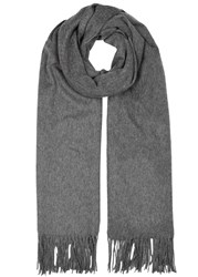 Johnstons Of Elgin Dark Grey Cashmere Scarf