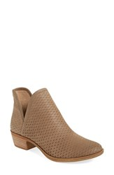 Lucky Brand Women's 'Bashina' Perforated Bootie Sesame Nubuck Leather