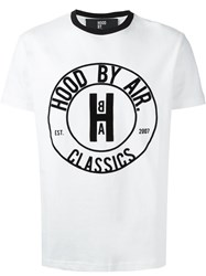 Hood By Air Front Print T Shirt White