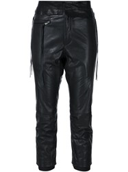 Haider Ackermann Leather Trousers Black
