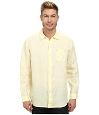 Tommy Bahama Sea Glass Breezer Long Sleeve Shirt Bright Creme Men's Long Sleeve Button Up Yellow