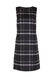 Hallhuber Flannel Dress With Check Pattern Black