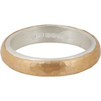 Malcolm Betts Women's Hammered Gold And Silver Band No Color
