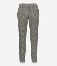 Christopher Kane Crazy Tweed Tailored Trousers Grey