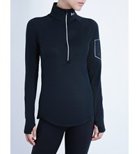 Under Armour Zip Up Fitted Top Black