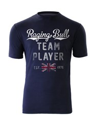 Raging Bull Team Player T Shirt Navy
