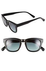 Icon Eyewear 55Mm Retro Sunglasses Black Smoke To Green