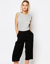 Weekday Scoop Back Bodysuit Gray Melange