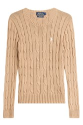 Polo Ralph Lauren Cotton Cable Knit Pullover Brown