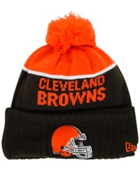 New Era Cleveland Browns Sport Knit Hat Orange Brown