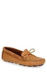 Minnetonka Moosehide Driving Shoe Natural