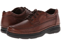 Nunn Bush Cameron Comfort Walking Oxford Brown Tumbled Leather Men's Lace Up Moc Toe Shoes