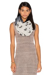 360 Sweater Cashmere Skull Infinity Scarf Black