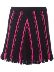 Iceberg Embroidered Mini Skirt Black