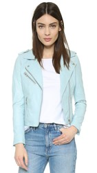 Doma Darken Leather Jacket Sky Blue