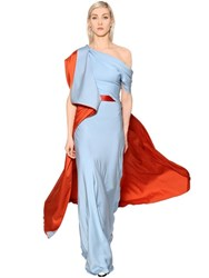 Vionnet Double Silk Georgette And Satin Long Dress