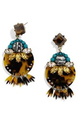 Baublebar Women's Velvet Drop Earrings Brown