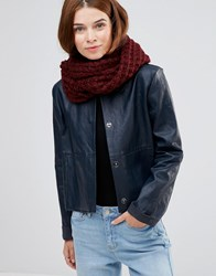 Lavand Knitted Snood Burgundy Red