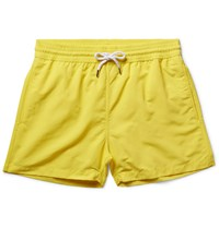 Frescobol Carioca Short Length Swim Shorts Yellow
