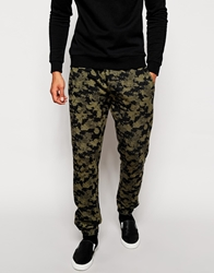Farah Vintage Joggers With Paint Smudge Print Greentea