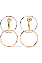 Charlotte Chesnais Galilea Gold Plated And Silver Hoop Earrings