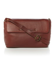 Ugg Jenna Brown Medium Flapover Crossbody Bag Brown