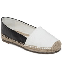 Bcbgeneration Fresno Espadrille Flats Women's Shoes Black White
