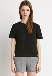 Forever 21 Triangle Matelasse Top Black