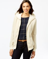 Tommy Hilfiger Faux Fur Lined Hoodie Pearled Ivory